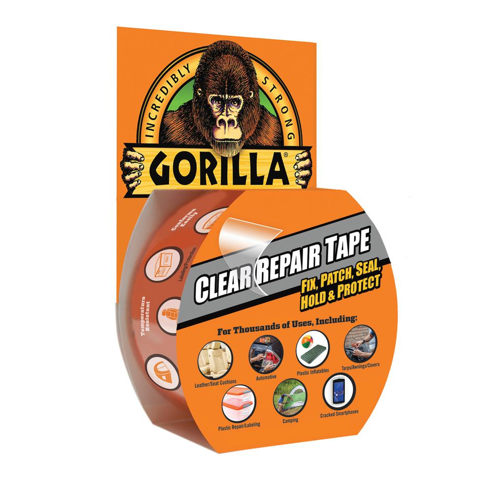 Gorilla Tape 1.88 in. x 9 yds. Clear Repair Tape (6-Pack)