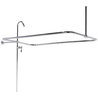 43 in. x 23 in. End Mount Shower Riser with Enclosure in Satin Nickel