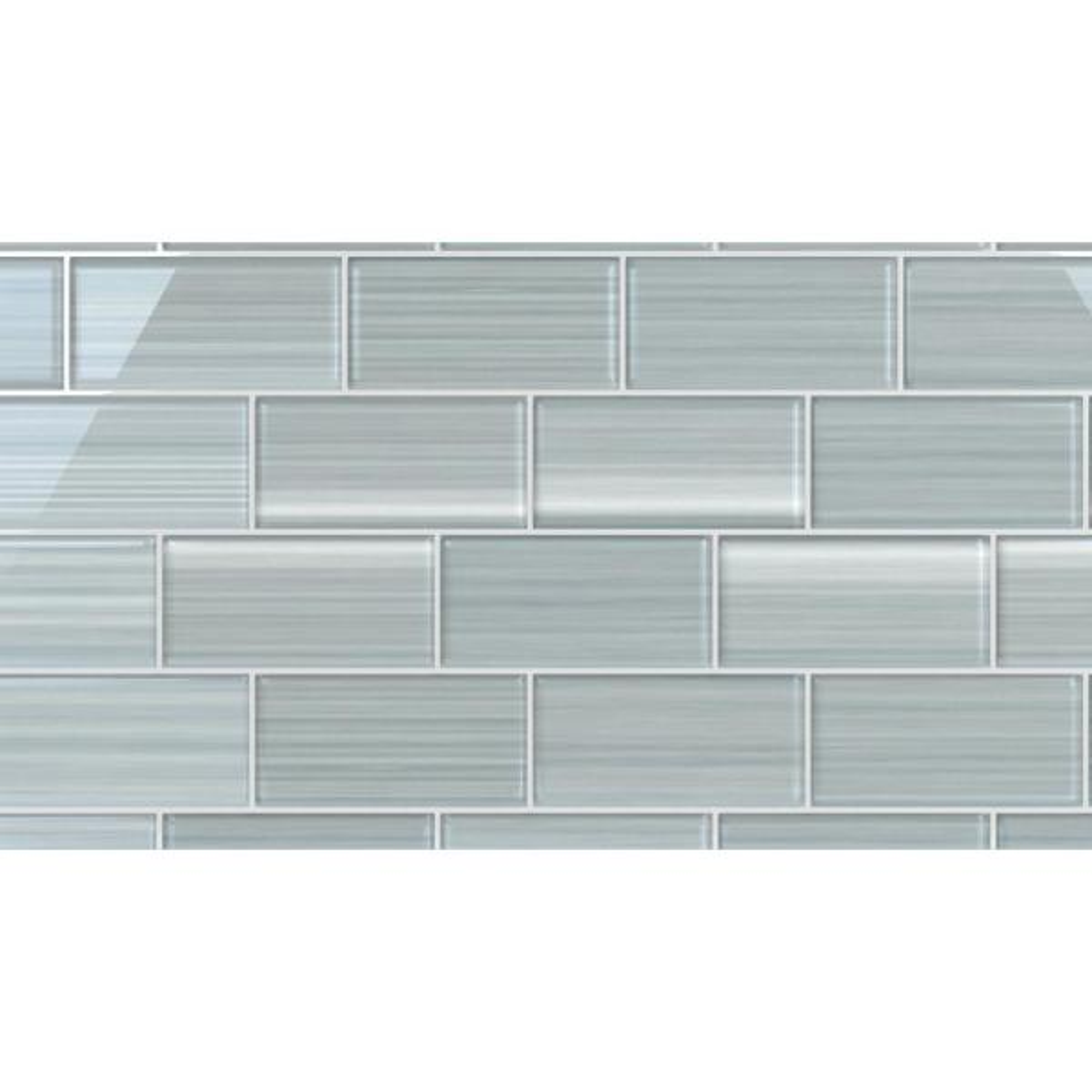 Bodesi Heron Gray Glass Tile For Kitchen Backsplash And Showers 3 In X 6 In Tile Sample Hpt Hr S The Home Depot