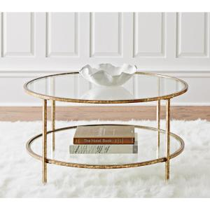 home depot coffee table Home Decorators Collection Bella Aged Gold Coffee Table 9501200910  home depot coffee table