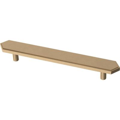 Elongated Hex 5-1/16 in. (128 mm) Champagne Bronze Drawer Pull