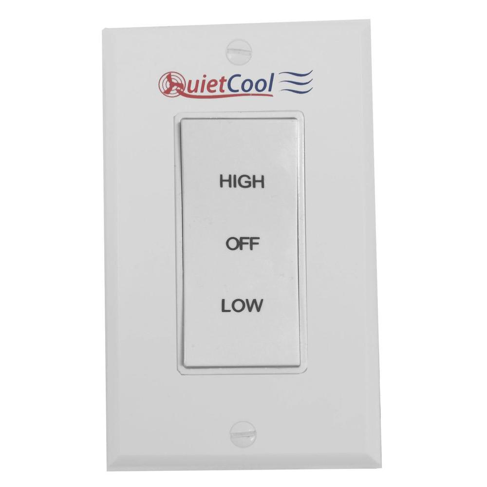 quietcool ventilation accessories it 35000 64_1000 quietcool 2 speed control switch it 35000 the home depot quiet cool wiring diagram at panicattacktreatment.co