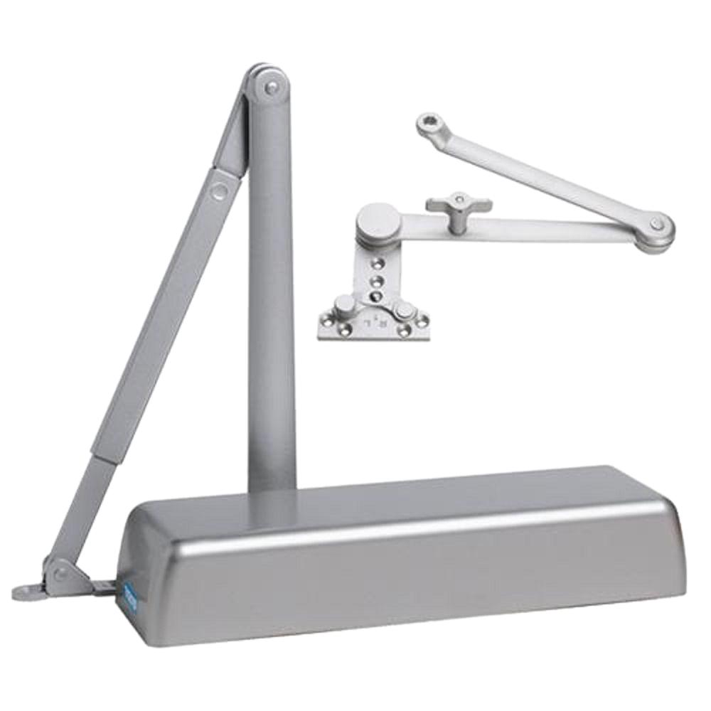 Heavy Duty ADA Commercial Door Closer with Cush-N-Stop Arm in Aluminum