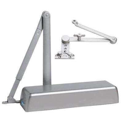 Heavy Duty ADA Commercial Door Closer with Cush-N-Stop Arm in Aluminum - Sizes 1-6