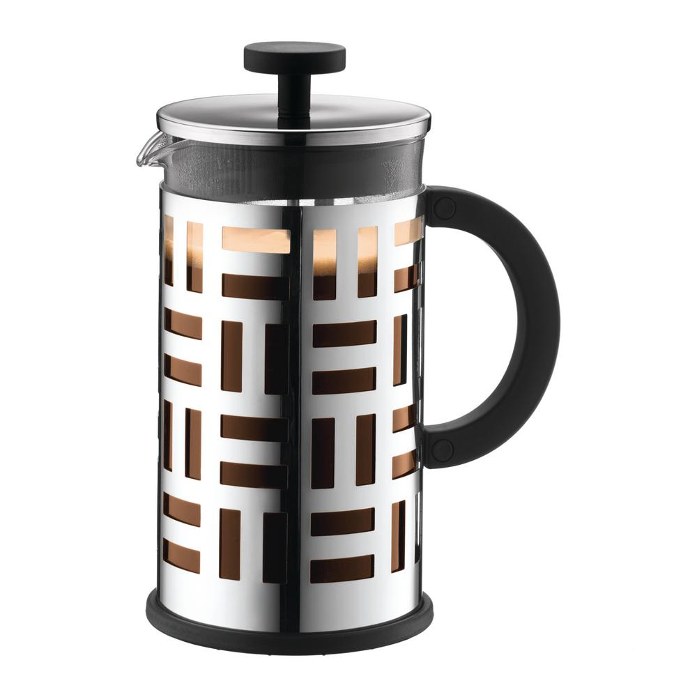 Eileen 8-Cup Chrome French Press Coffee Maker