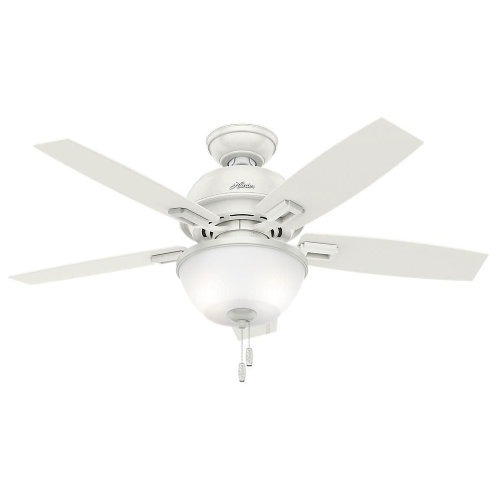 Hunter Donegan 44 In Led Indoor Fresh White Ceiling Fan