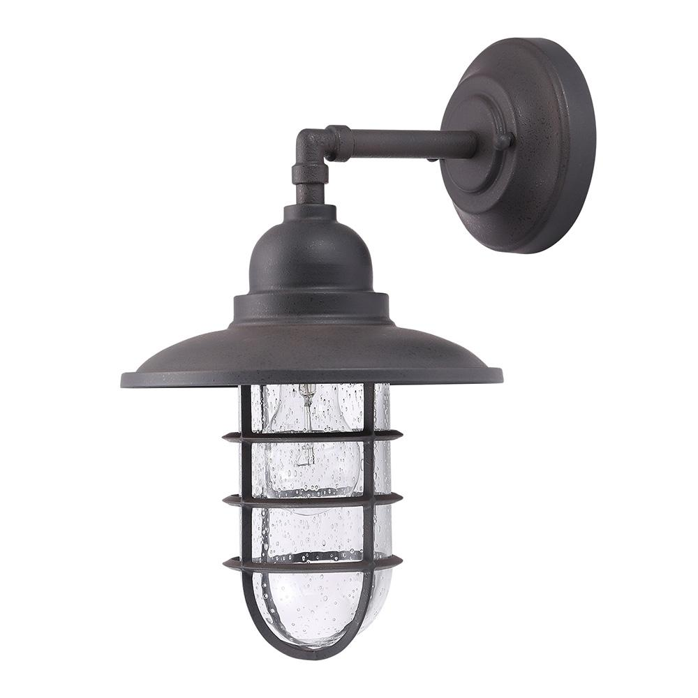 Shipman 1-Light Gun Metal Grey Outdoor Lantern
