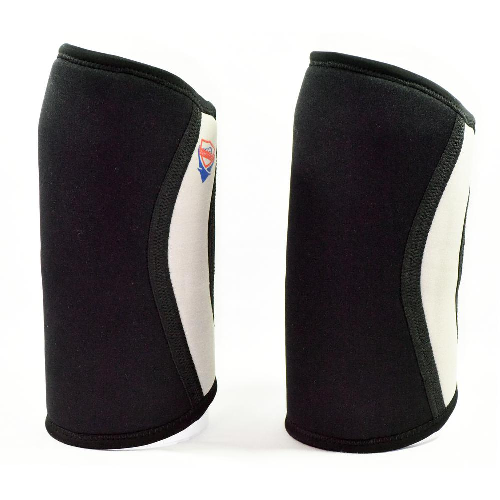 7mm Neoprene Large Support and Compression Knee Sleeves for Weightlifting,