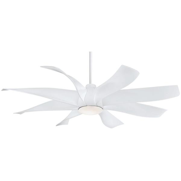 Dream Star 60 in. Integrated LED Indoor White Ceiling Fan with Light with Remote Control