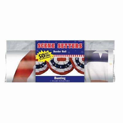 18 in. x 40 ft. Patriotic Bunting Border Roll (2-Pack)