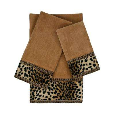 Leops Nugget Embellished Towel Set (3-Piece)