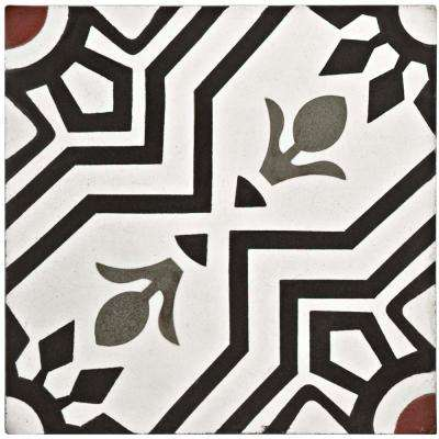 Cemento Ellis Moonlight Encaustic 7-7/8 in. x 7-7/8 in. Cement Handmade Floor and Wall Tile