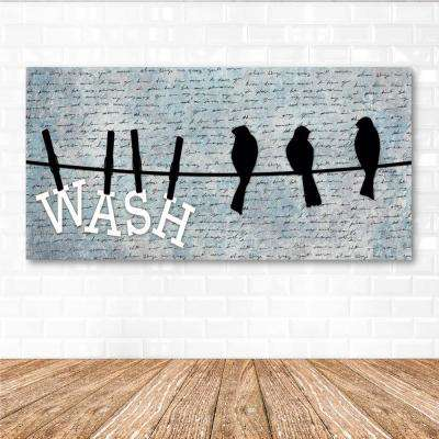 "12 in. x 24 in. ""Wash"" Canvas Printed Wall Art"