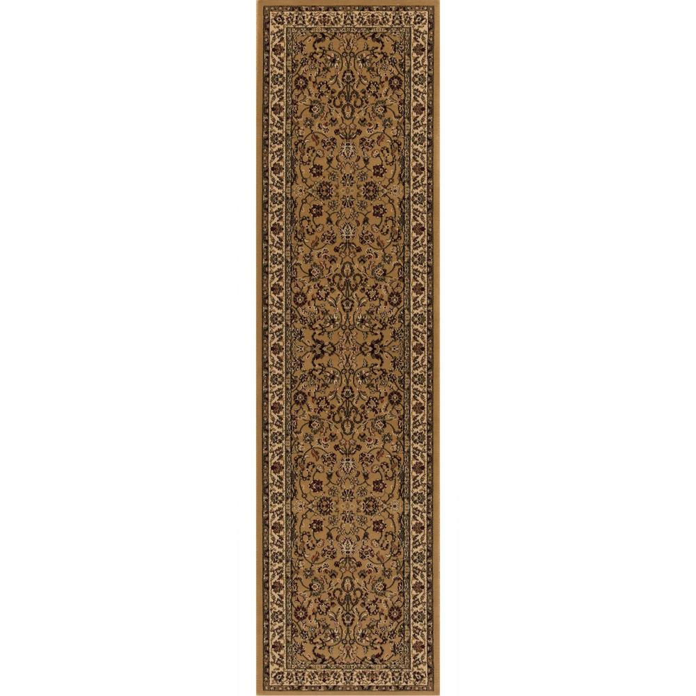 Persian Classics Kashan Gold 2 ft. x 7 ft. 7 in.