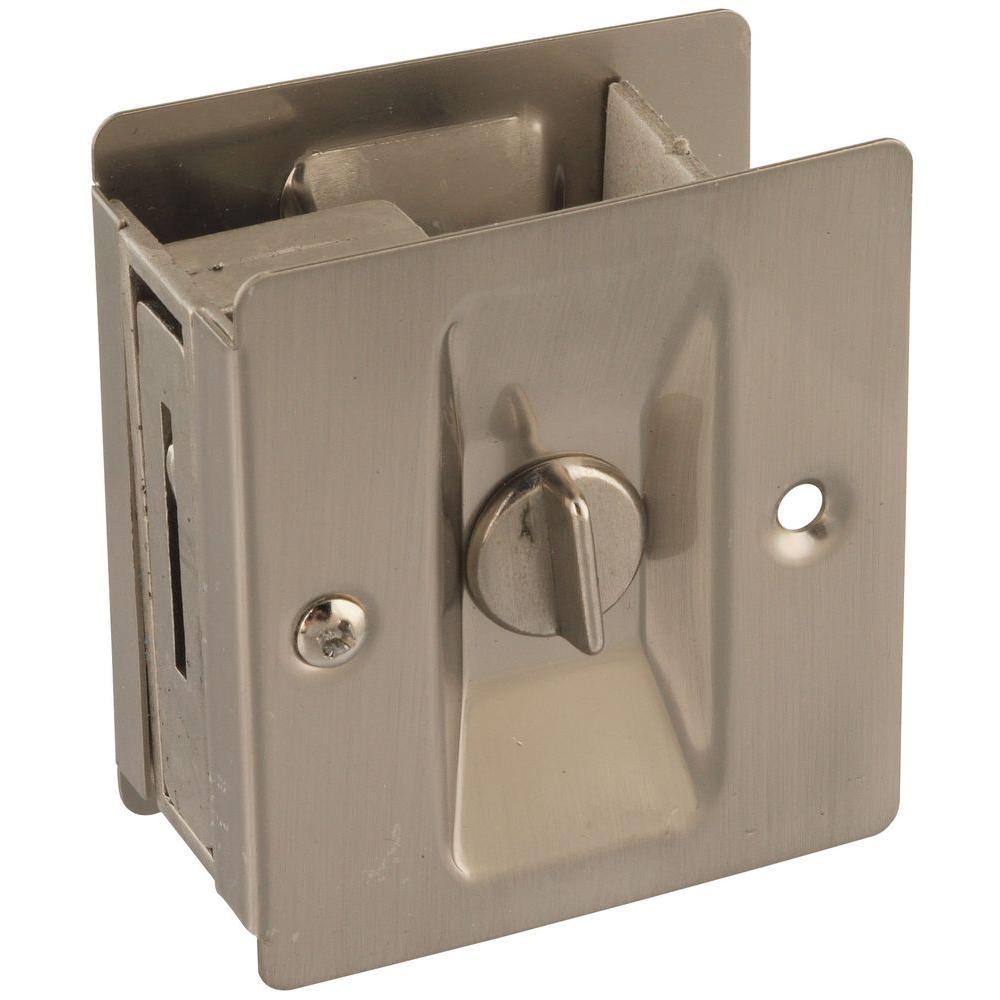 National Hardware Satin Nickel Pocket Door Latch V1951