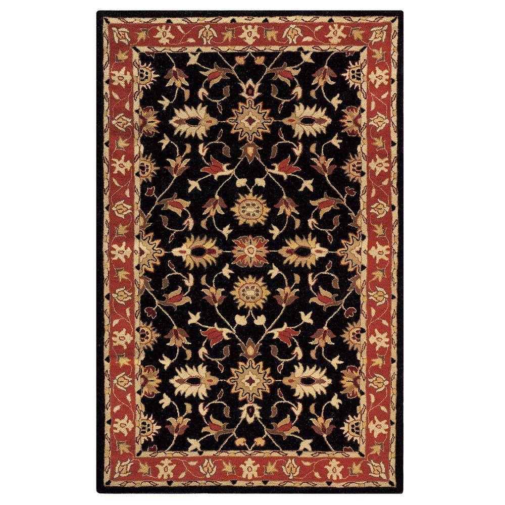 Home Decorators Collection Thornbury Black and Red 4 ft. x 6 ft. Area Rug
