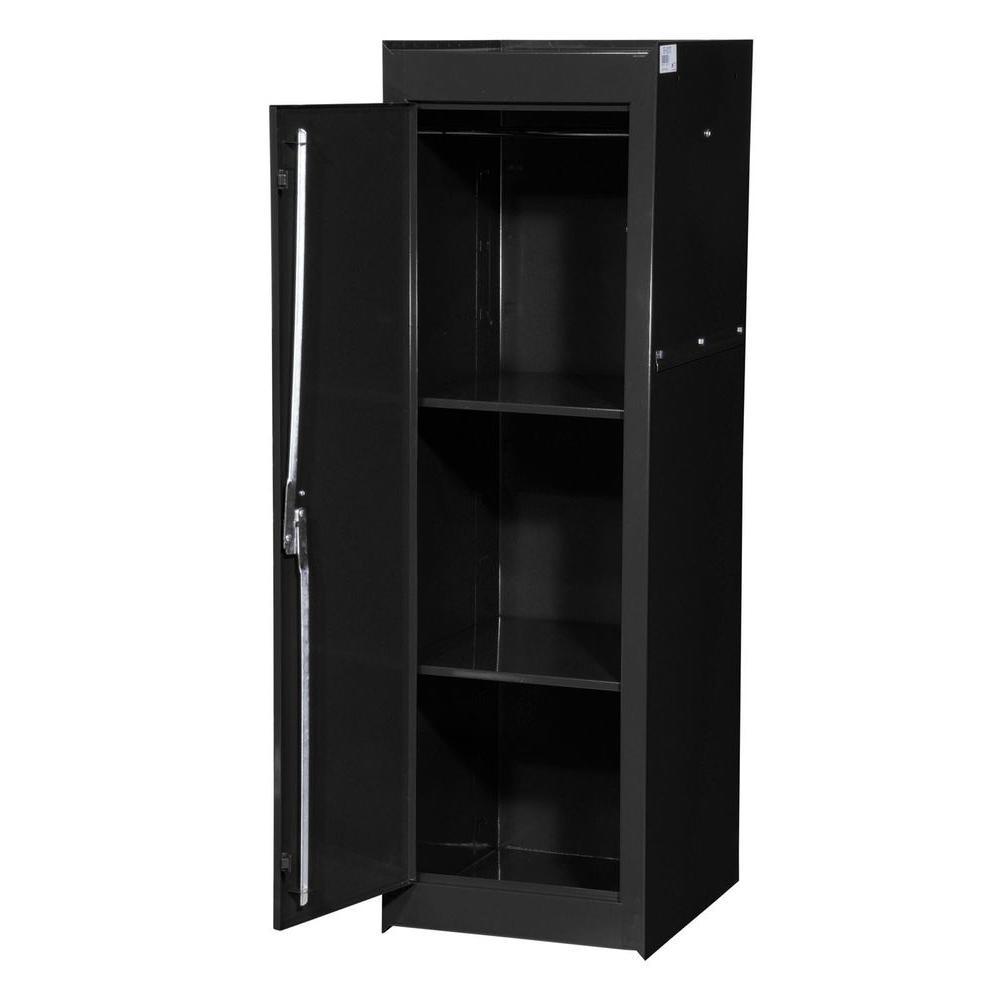 Tech Series 15-3/8 in. 2-Shelf Full Side Locker, Black