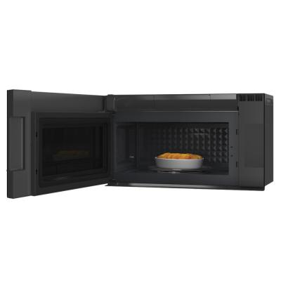 2.1 cu. ft. Smart Over the Range Microwave with Sensor Cooking in Platinum Glass