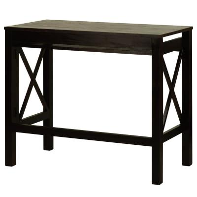 X-Design Espresso Folding Desk with Pull-Out
