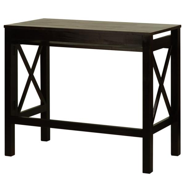 Casual Home X-Design Espresso Folding Desk with Pull-Out 533-33