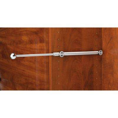1.125 in. H x 1.25 in. W x 11 in. D Chrome Pull-Out Designer Valet Rod