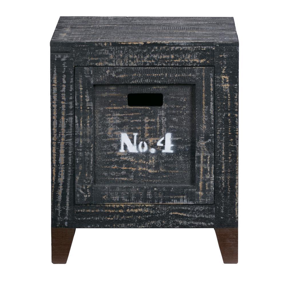 Wyatt Coal Storage End Table