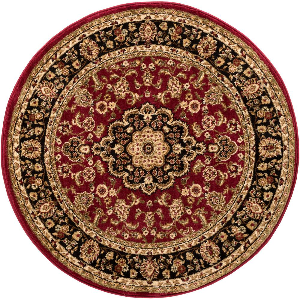 Well Woven Barclay Medallion Kashan Red 4 Ft X 4 Ft