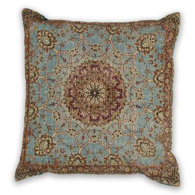 Blue Morocco 18 in. x 18 in. Decorative Pillow