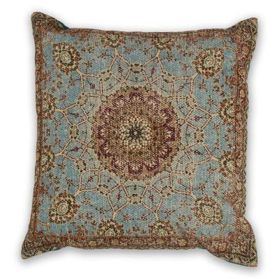 Morocco Blue Geometric Hypoallergenic Polyester 18 in. x 18 in. Throw Pillow