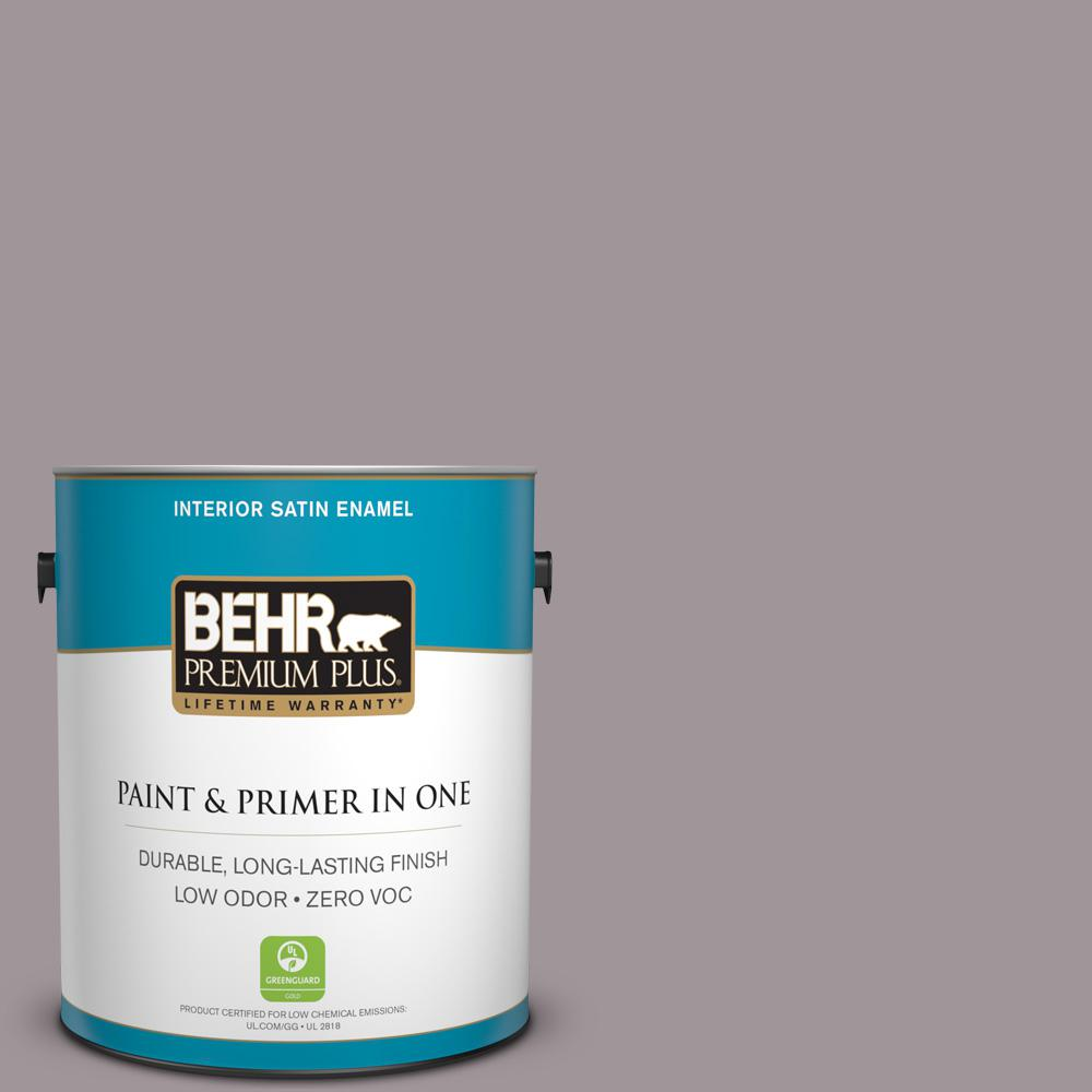 1 gal. #PPU17-13 Heather Plume Zero VOC Satin Enamel Interior Paint