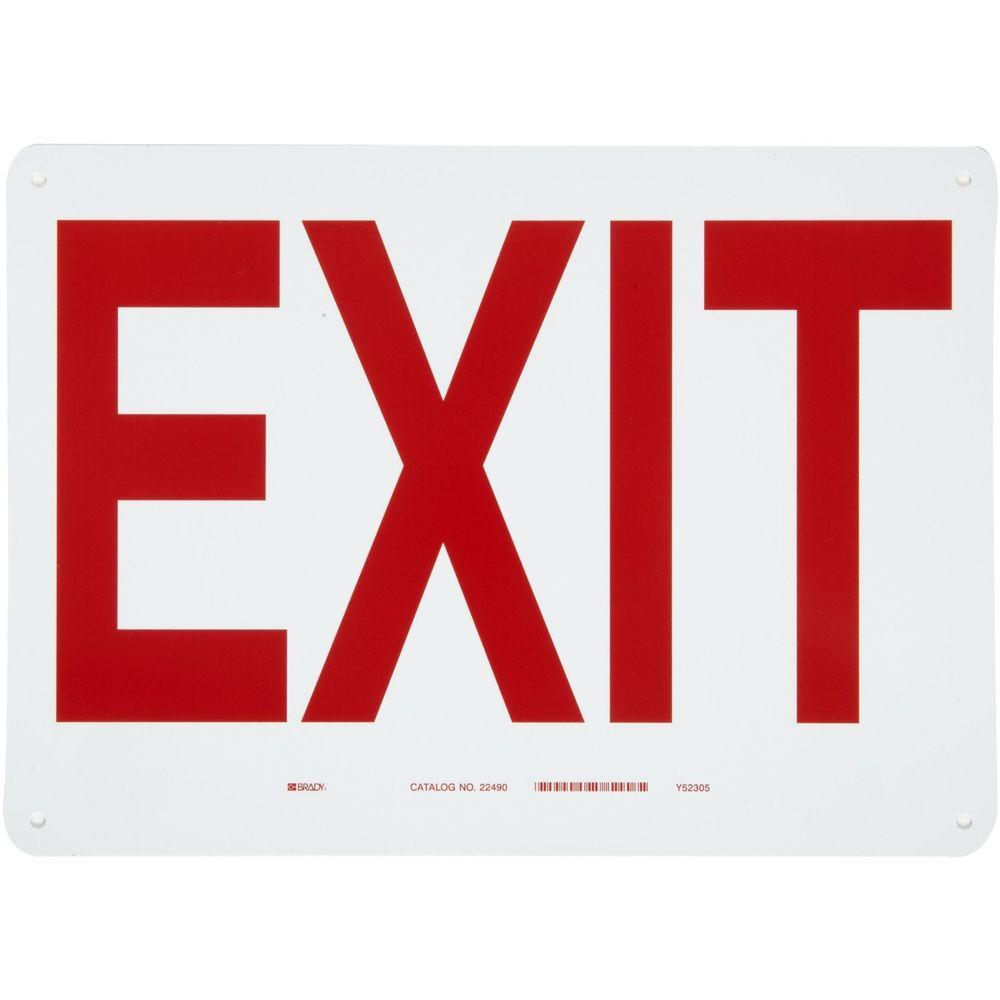 Brady 10 in. x 14 in. Exit Sign