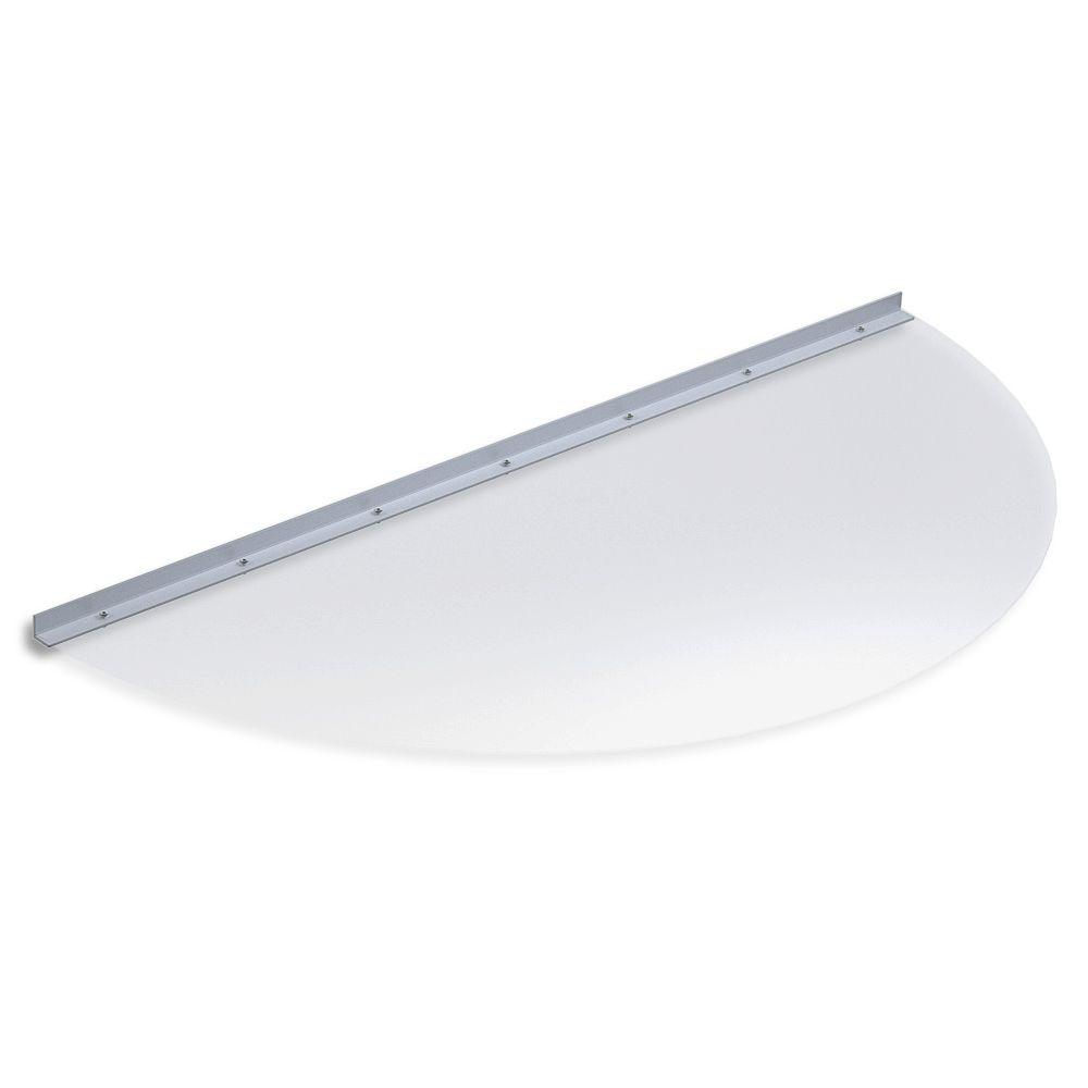 48 in. x 23 in. Semi-Round Clear Polycarbonate Window Well Cover