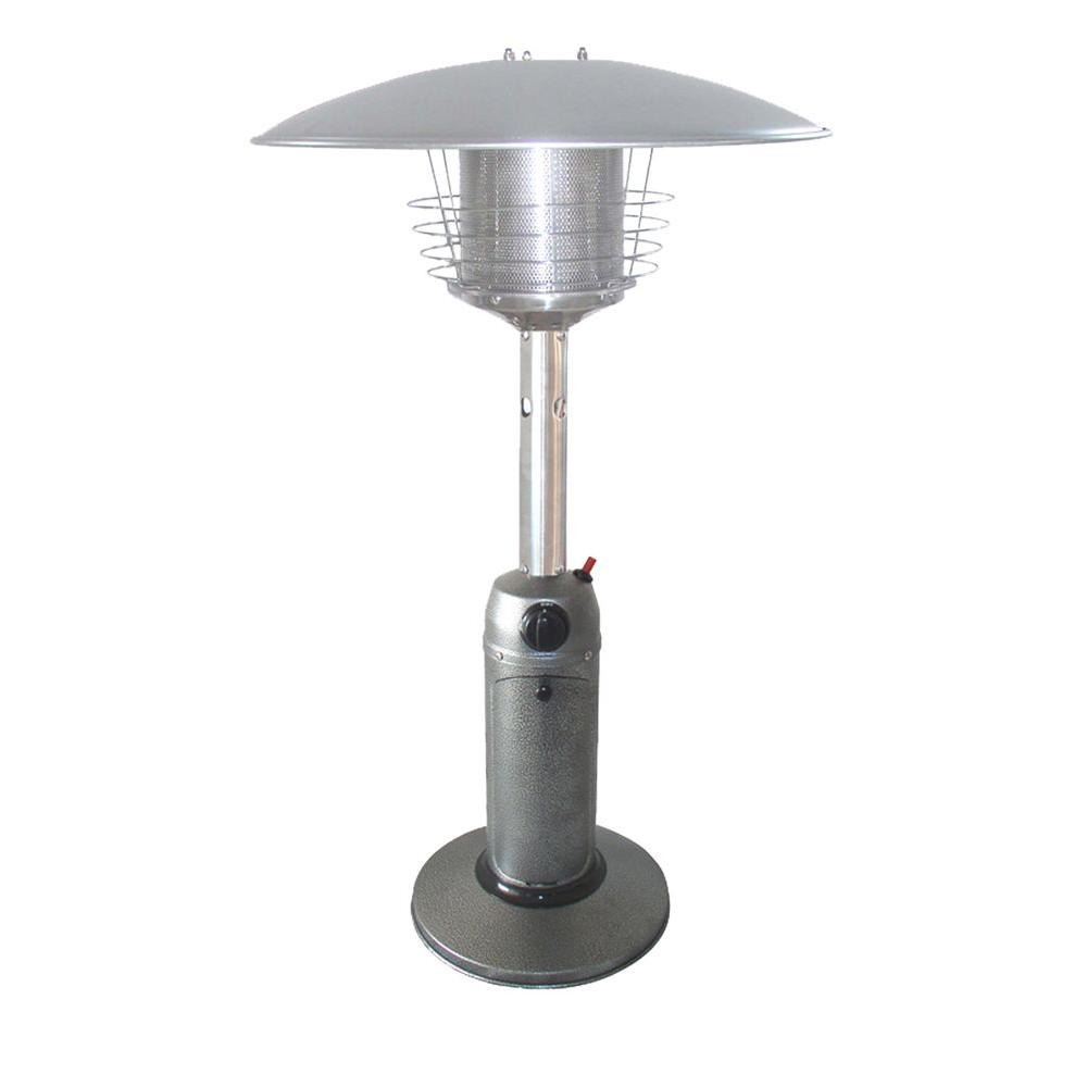 11,000 BTU Portable Hammered Silver Gas Patio Heater