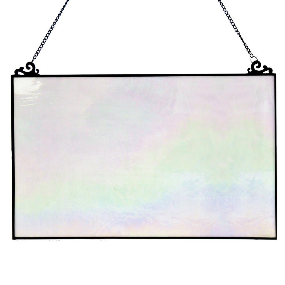 river of goods opalescent stained glass single pane window