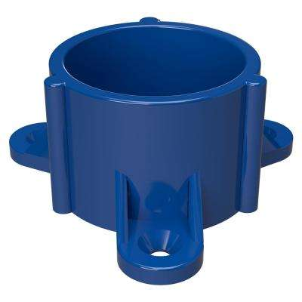1-1/4 in. Furniture Grade PVC Table Screw Cap in Blue (10-Pack)