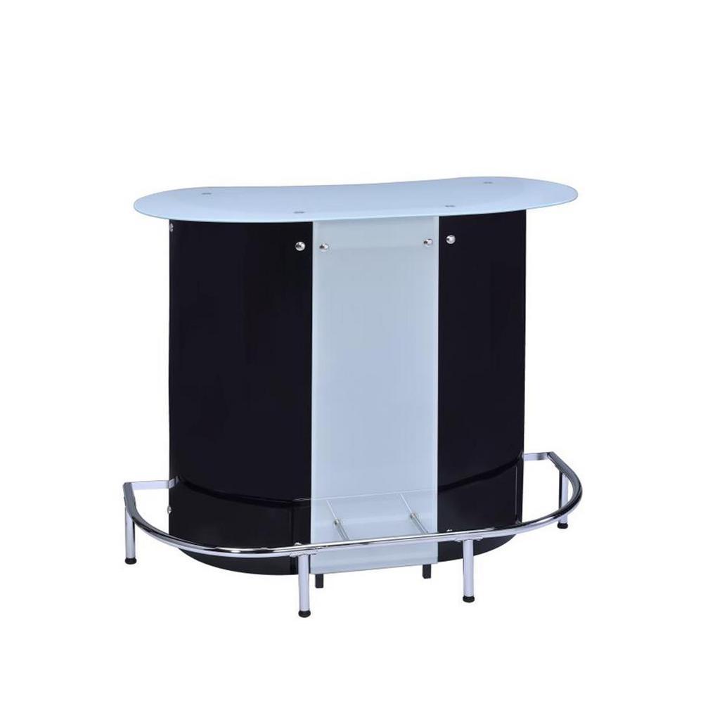 Contemporary Black and White Acrylic Bar Unit