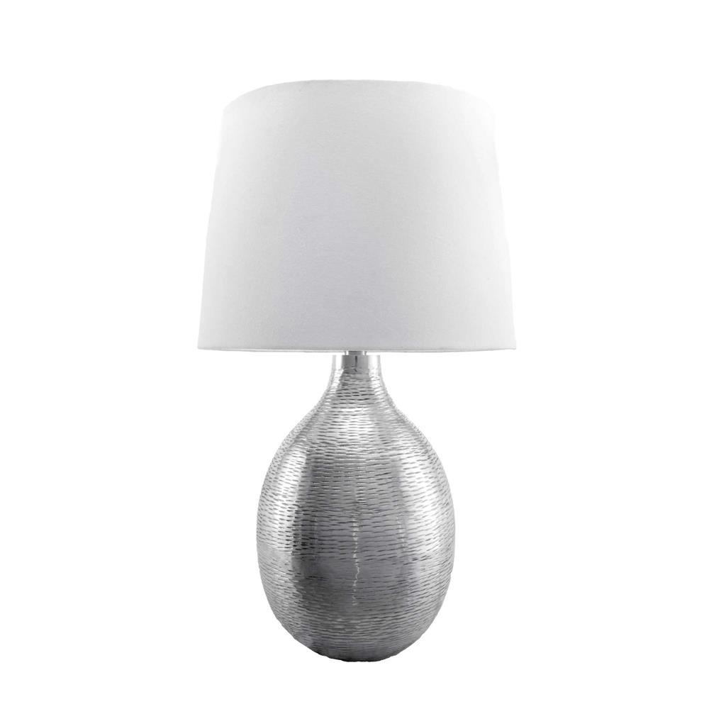 Reth 26 in silver table lamp dct02aa the home depot silver table lamp mozeypictures Gallery