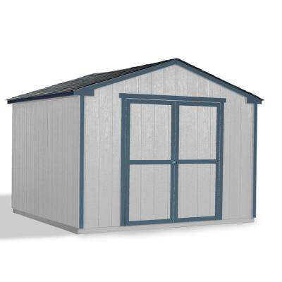 Do-It-Yourself Princeton 10 ft. x 10 ft. Un-Painted Wood Storage Shed Building