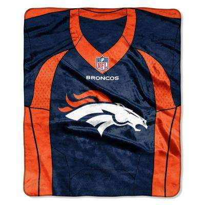 Broncos Jersey Raschel Throw