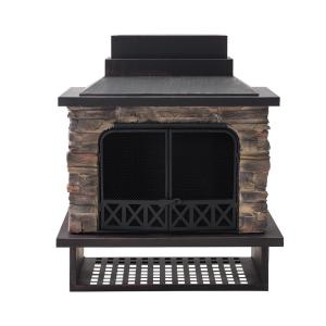 Electra 48.03 in. Wood Burning Fireplace