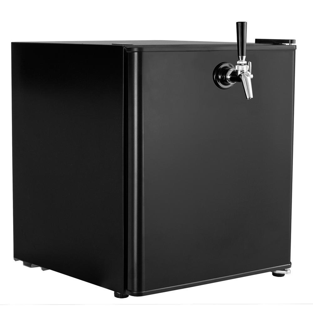 SodaKing Carbonated Water Single Tap Mini Kegerator, Black
