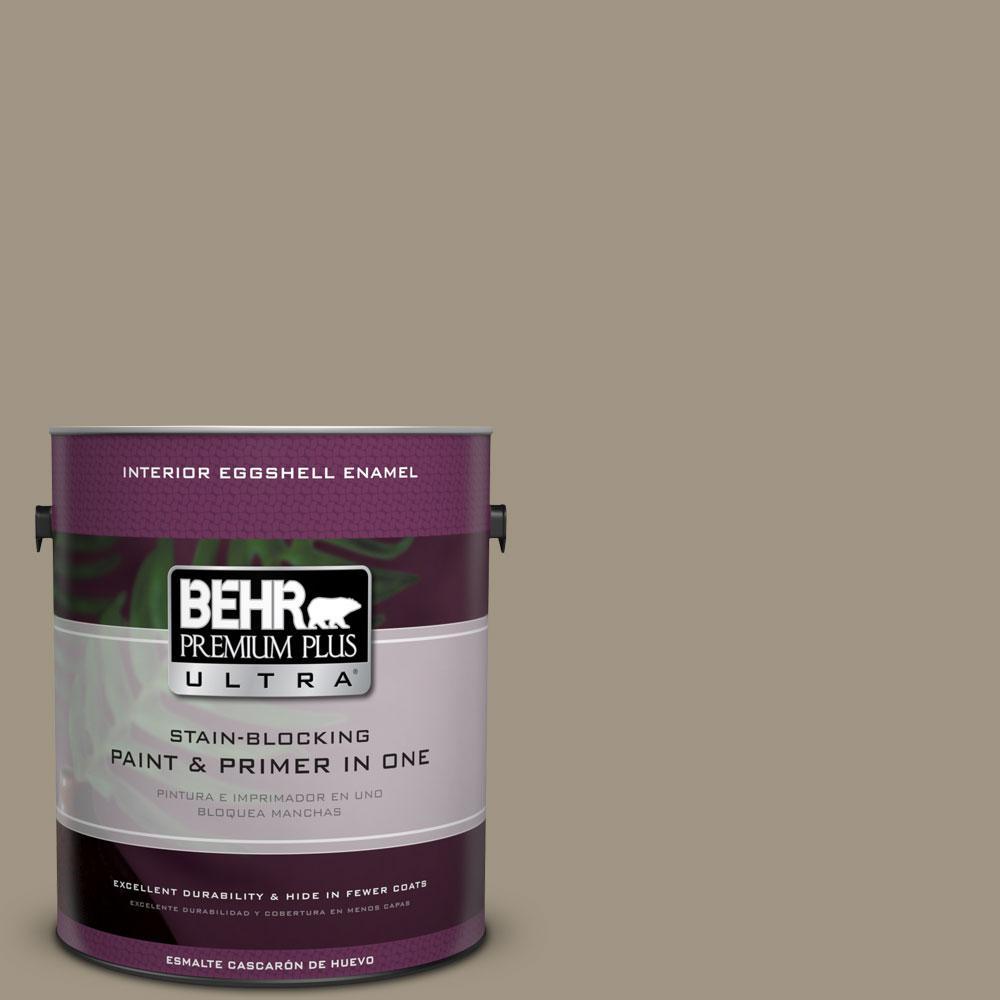 BEHR Premium Plus Ultra 1-gal. #BNC-24 Shadow Taupe Eggshell Enamel Interior Paint