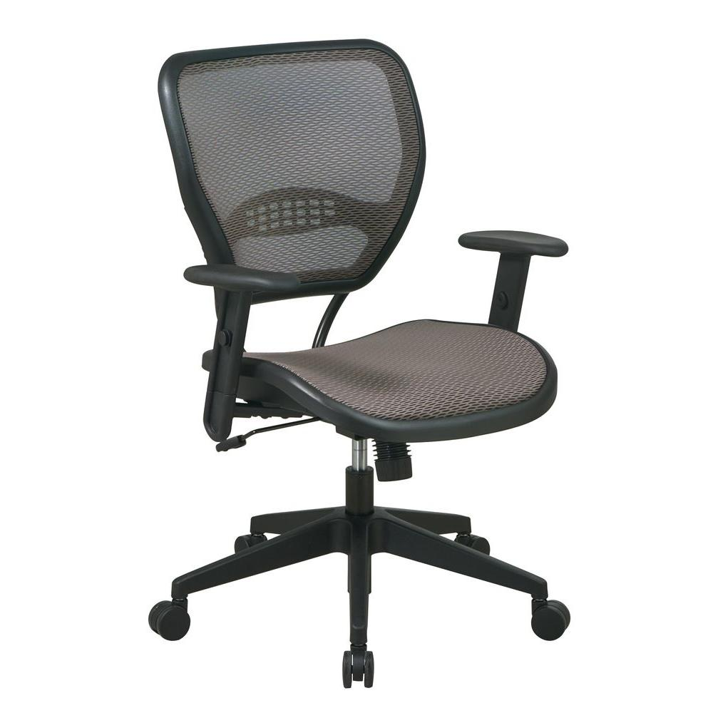 Deluxe Tan and Black AirGrid Back Office Chair