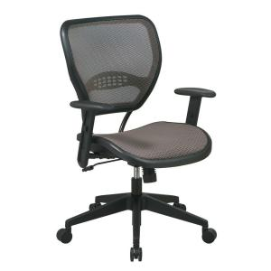 E Seating Deluxe Tan And Black Airgrid Back Office Chair