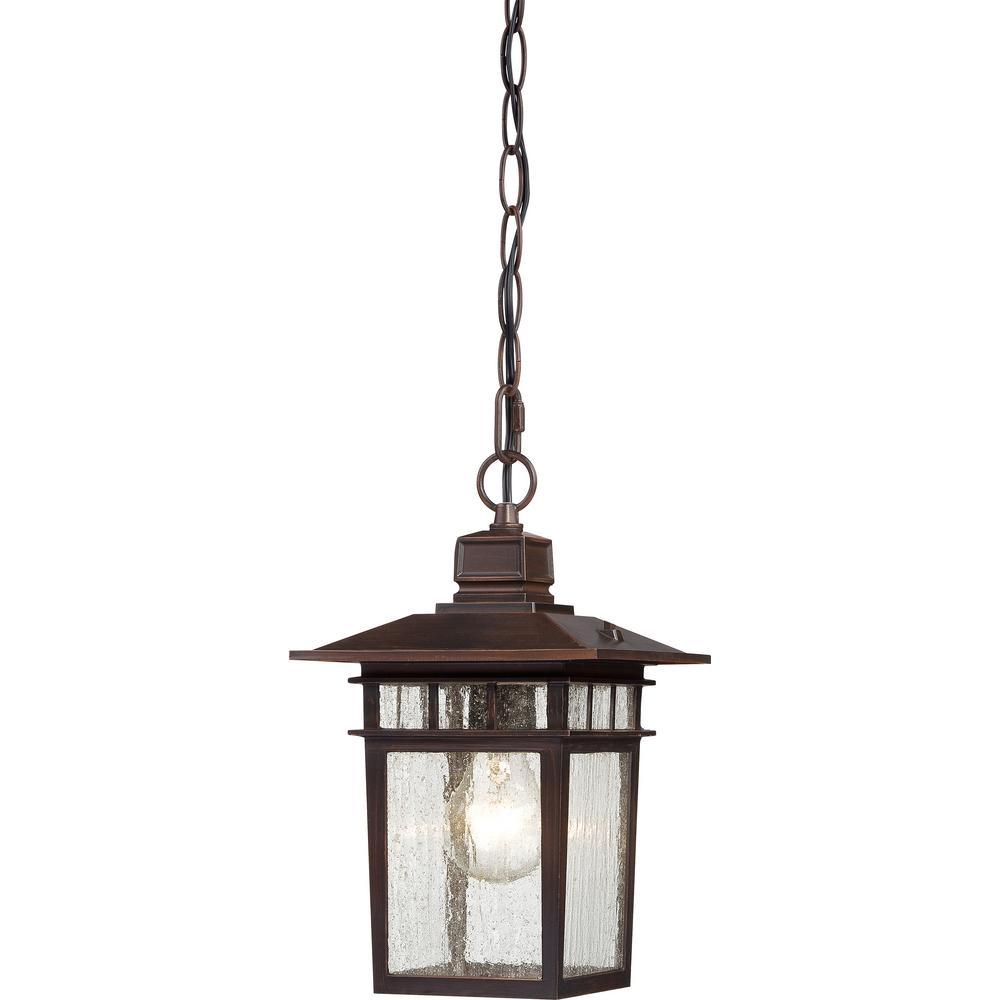 Connor Rustic Bronze 1-Light Outdoor Hanging Lantern
