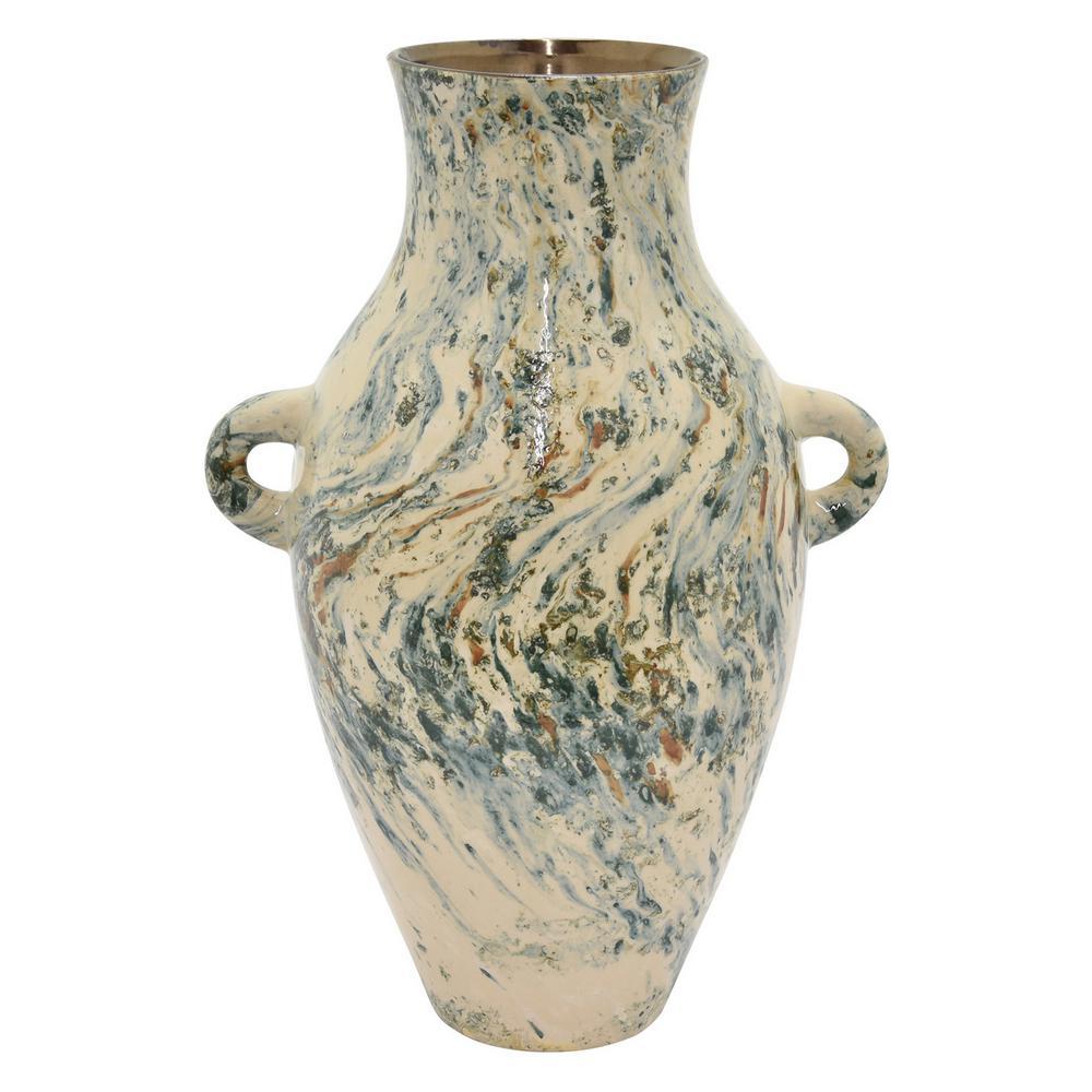 18.5 in. Ceramic Vase in Green