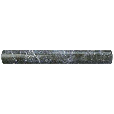 Aroas Cigarro Gris 1 in. x 8 in. Ceramic Wall Trim Tile