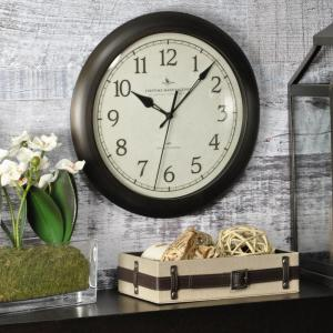 FirsTime Bronze Wall Clock with Whisper Technology by FirsTime