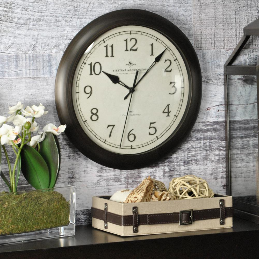 Firstime Bronze Wall Clock With Whisper Technology