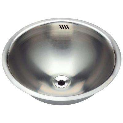 Tri-Mount Bathroom Sink in Stainless Steel